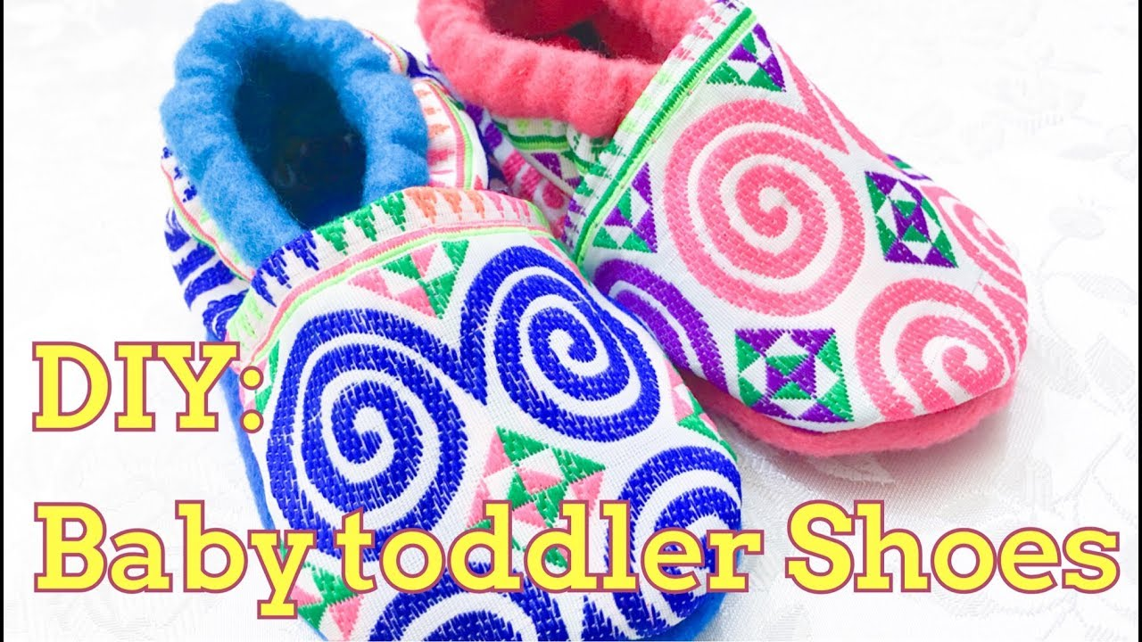 How to make a baby toddler shoe slippers