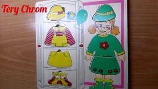 Обзор на Пазл-сортер рамка вкладыш Одень куклу