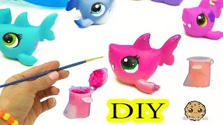 Custom Painting DIY Littlest Pet Shop Shark - LPS Do It YourSelf Cookieswirlc Craft Video
