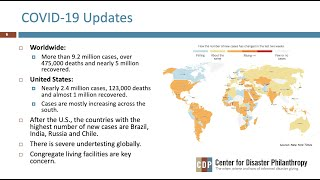 COVID-19: Managing a Global Response webinar