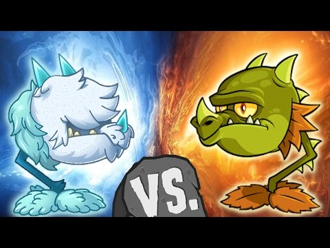 Plants vs Zombies 2 Cold Snapdragon vs Snapdragon