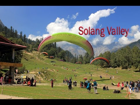 Paragliding at Solang Valley in Manali. Solang Valley the best sightseeing in Manali | Travel etc