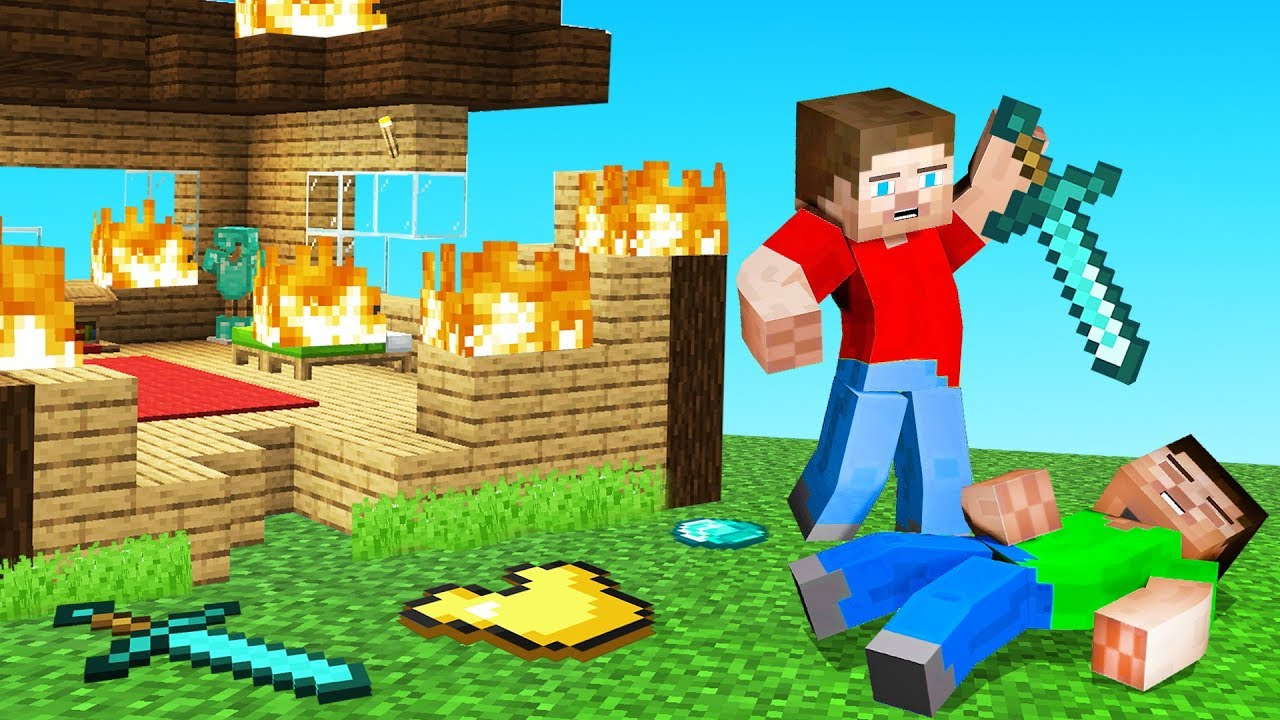 He DESTROYED His OWN MINECRAFT House He Died  YouTube