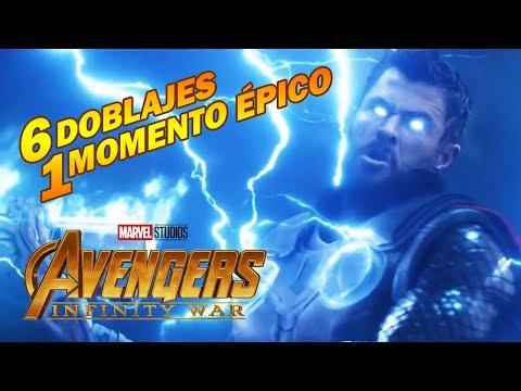 THOR Tráiganme a Thanos - 6 DOBLAJES 1 MOMENTO ÉPICO - Avengers Infinity War