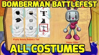Bomberman Live Battlefest (Xbox 360) - All Costumes (Including DLC)