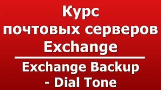 Exchange Backup - Dial Tone