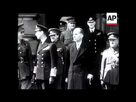 French Canadians March Through London - 1940