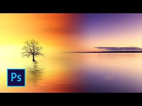 Как в фотошопе сделать плавный переход между цветами