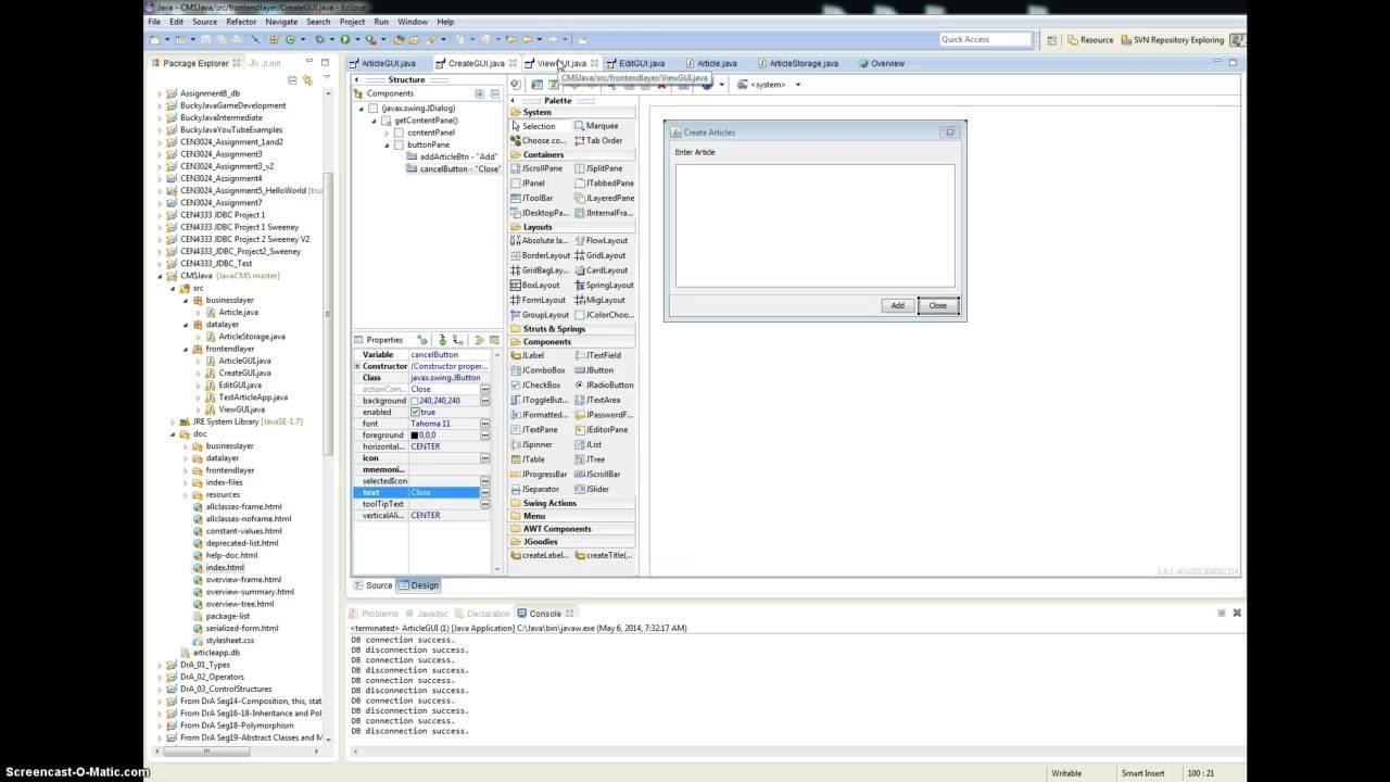 Java CMS project presentation - YouTube