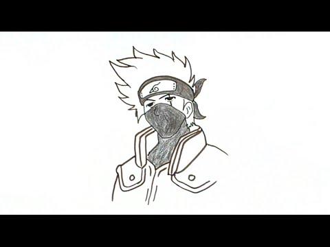 How to Draw Kakashi Hatake from Naruto