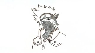 How to Draw Kakashi Hatake from Naruto