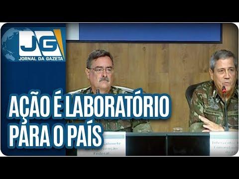 General responsável por intervenção no RJ diz que ação é laboratório para o país