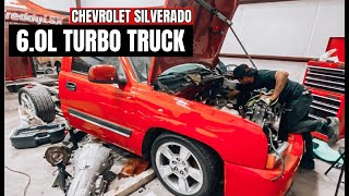 PULLING OUT ENGINE ON RED TURBO TRUCK!