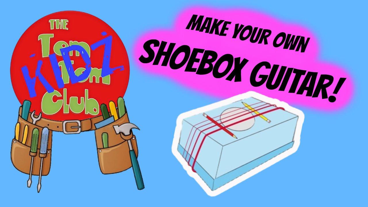 make your own pre school kids musical instruments - diy shoebox