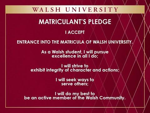 2020 Matriculation August 22