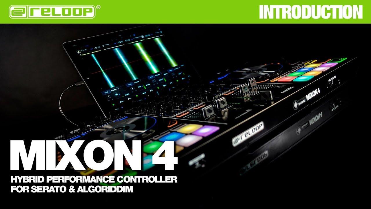 reloop mixon 4 dj controller hybrid performance controller for serato algoriddim. Black Bedroom Furniture Sets. Home Design Ideas