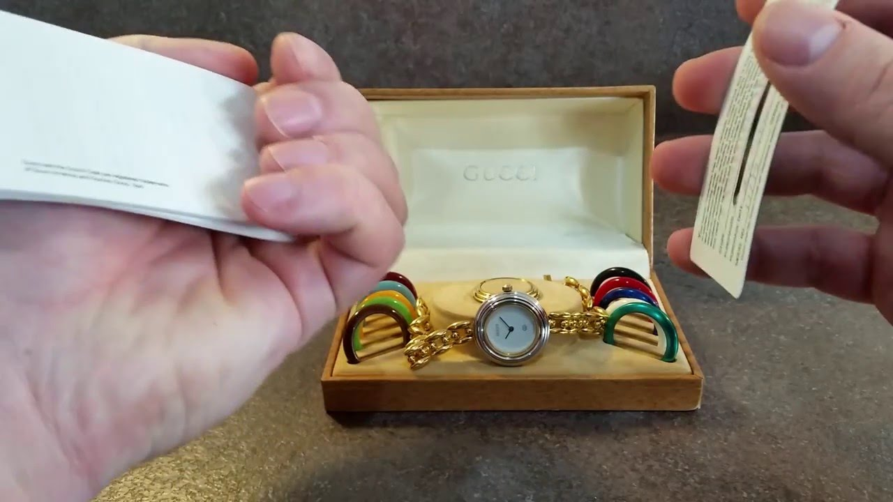745c3948a6c 1992 Gucci 11 12 ladies vintage watch with box
