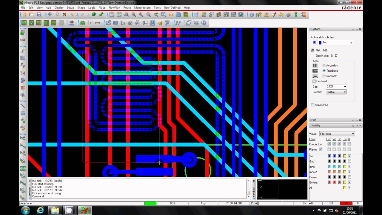 OrCAD 8 Min Demo - Cadence and OrCAD PCB Suites & Options