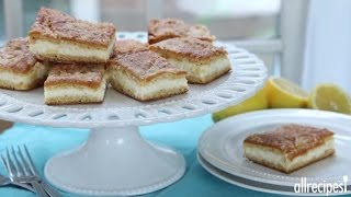 Dessert Recipes - How To Make Lemon Cream Cheese Bars