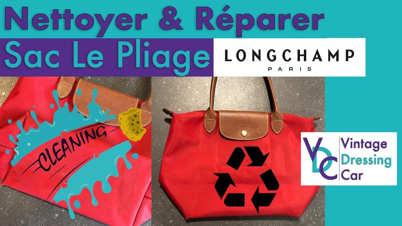 Nettoyer et Réparer le sac en toile LE PLIAGE de chez Longchamp