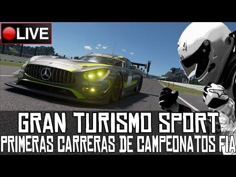 Gran Turismo Sport || Primeras carreras de la FIA || LIVE