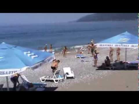 Дорога с пляжа в Мини-отель Гагра