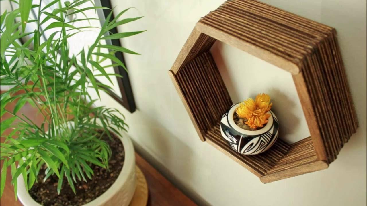 Manualidades con palitos de polo para decorar tu casa - Manualidades para la casa decorar ...