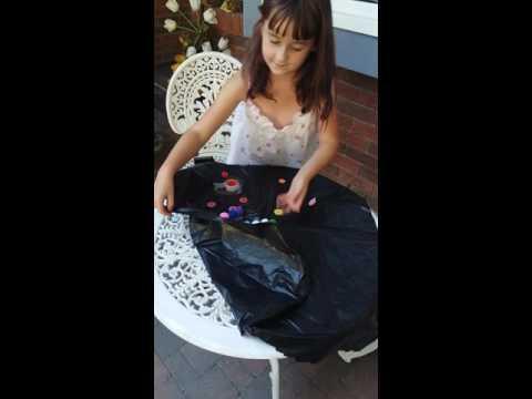 Making a paper bag dress 😅😄