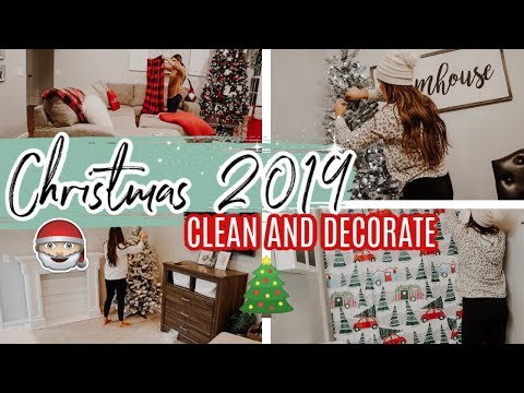 CLEAN & DECORATE WITH ME CHRISTMAS 2019 | ENTIRE HOUSE CHRISTMAS DECORATING!