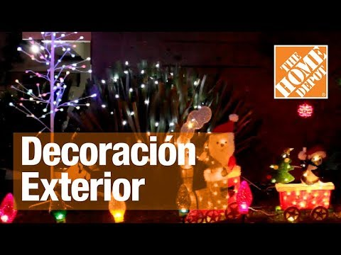 Decoraci n exterior para navidad youtube for Decoracion navidena para exteriores