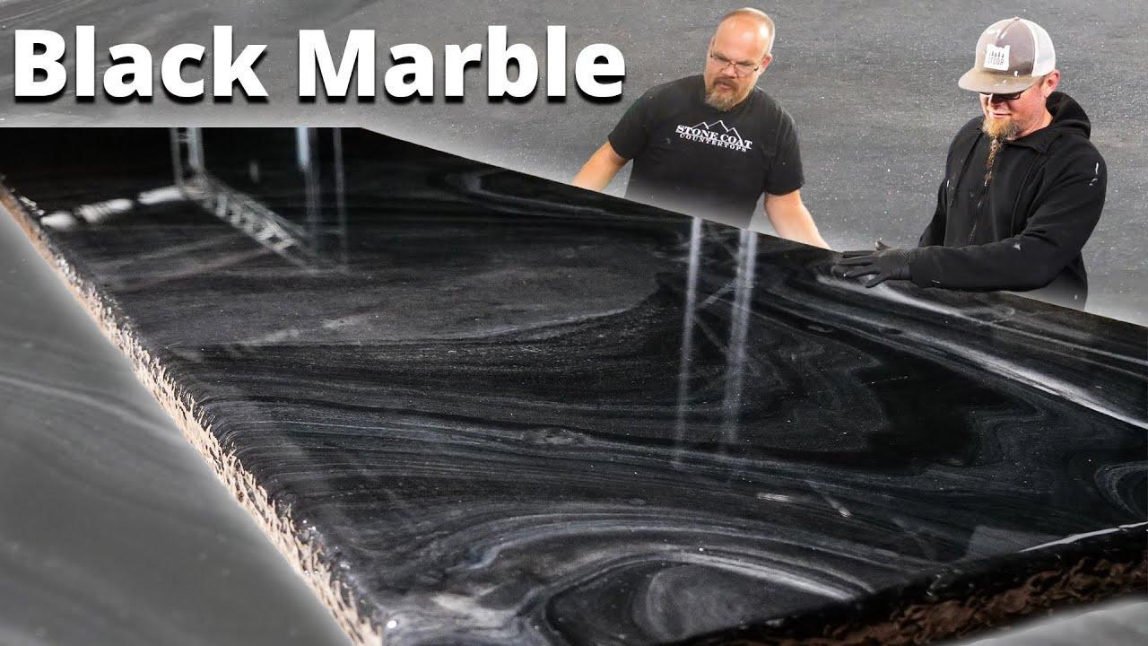 Как сделать черный экзотический мрамор с эпоксидной смолой.  Эпоксидное покрытие Stone Coat
