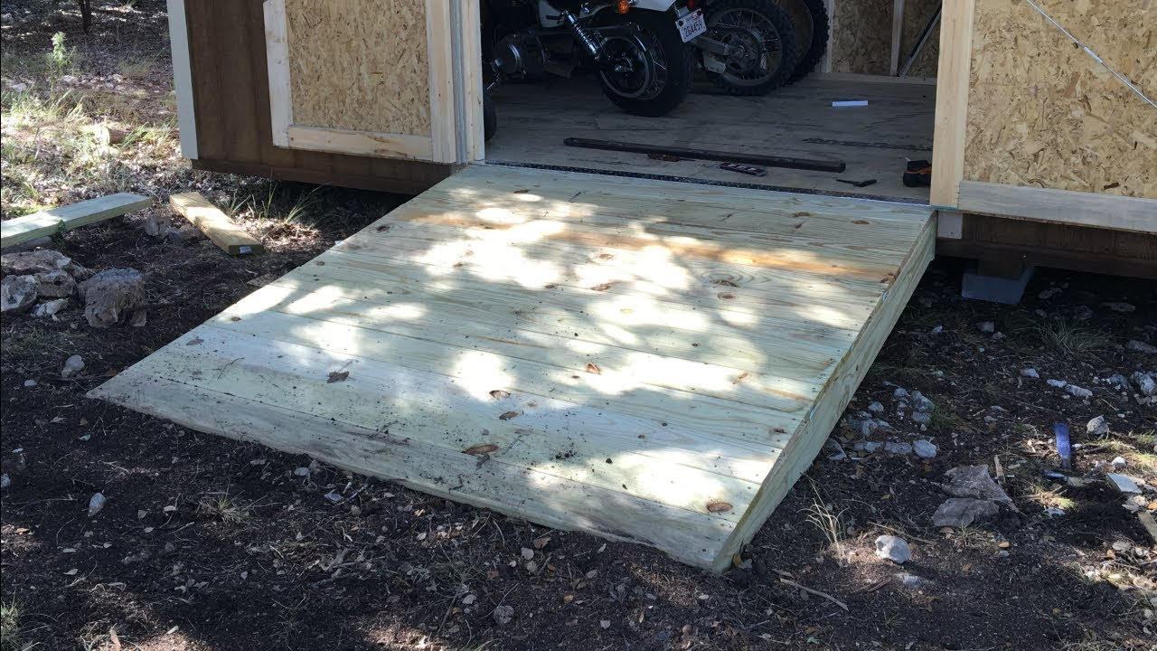 Building Shed Ramps