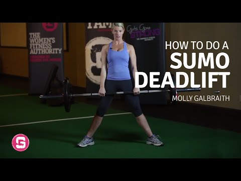 Deadlift - How To Do A Sumo Barbell Deadlift (Front View)