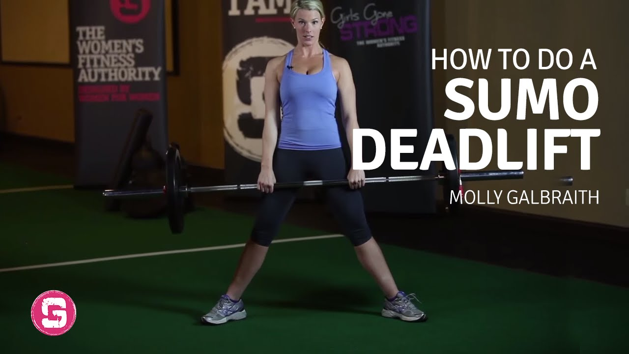 Deadlift - How To Do A Sumo Barbell Deadlift (Front View ...