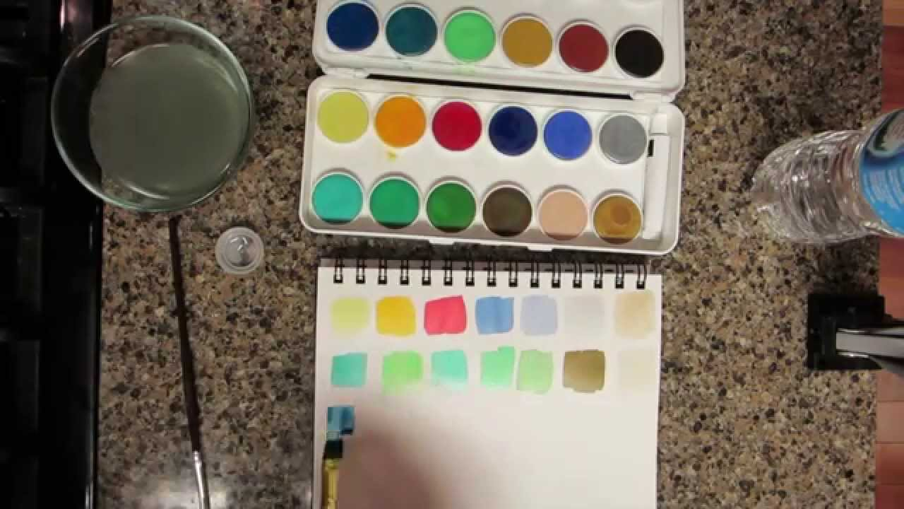 grumbacher watercolors review youtube