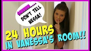 24 HOURS OVERNIGHT CHALLENGE IN MY SISTER'S ROOM    Taylor and Vanessa