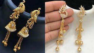 long latkan earrings design/gold latkan earrings for wedding/long stylish latkan earrings/buy