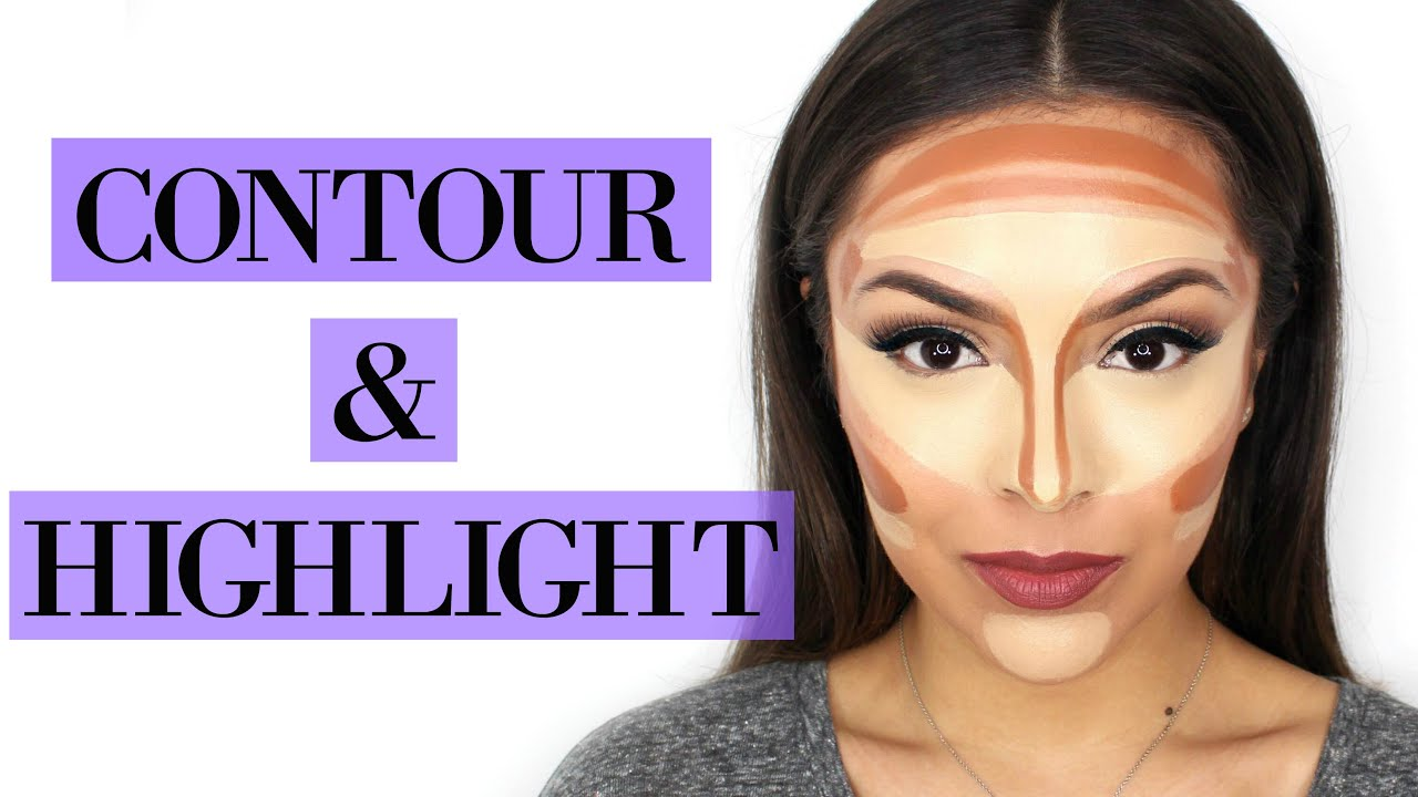 How To Highlight And Contour Your Face For Beginners  Trinaduhra  Youtube