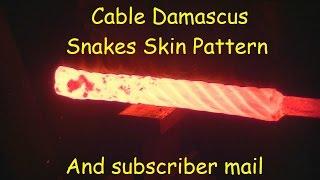Blacksmithing / forging cable Damascus