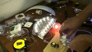 Светодиодный светильник своими руками(В видео показано как переделать люминисцентный светильник в светодиодный, сделать из обычного светильника..., 2013-11-24T14:01:32.000Z)