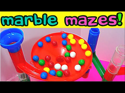 Best Learning Compilation Video: Marble Maze Runs Teach Colors & Counting for Kids! Fun Educational!