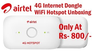 Airtel 4G Wifi Hotspot Internet Dongle Unboxing & Review