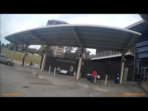 Durham Station NC Bus Terminal For Megabus, Go Triangle, Greyhound