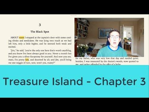 Read English Literature classics -  Treasure Island - Chapter 3 (English Listening/Reading)