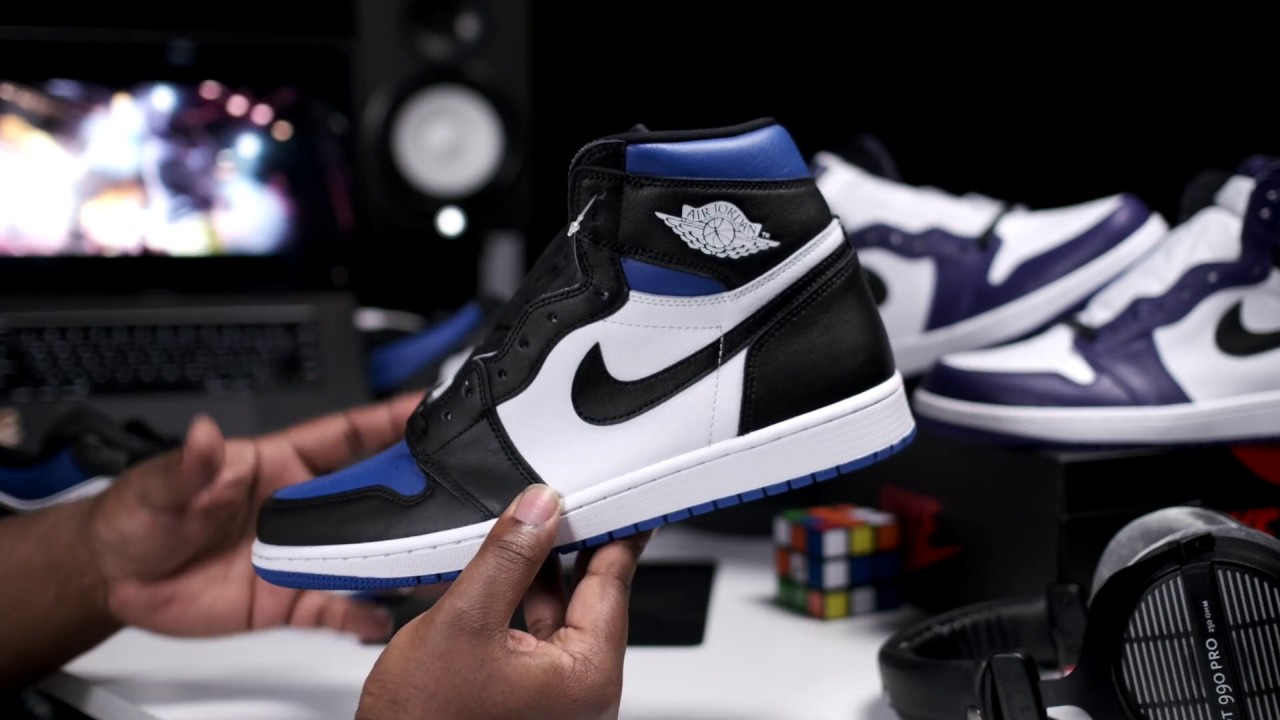 Early Look Nike Air Jordan 1 Retro Og High Game Royal Toe Full Review Youtube