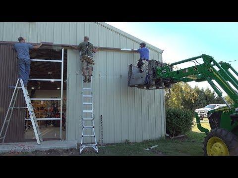 Powered Sliding Shed Door!! Pole Barn Rehab!