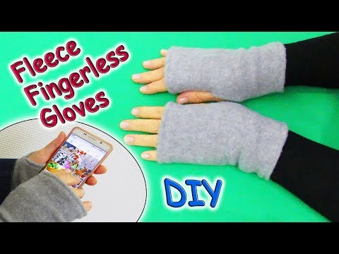 DIY Simple Fleece Fingerless Gloves - How to Sew Fingerless Mittens - How to Make Easy Pattern