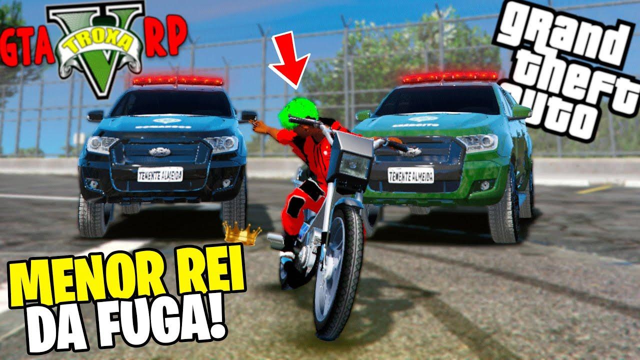 Download GTA 5 ROLEPLAY - MENOR REI DA FUGA! - *5 fuga kkkkkk* - (os pm trox4!)