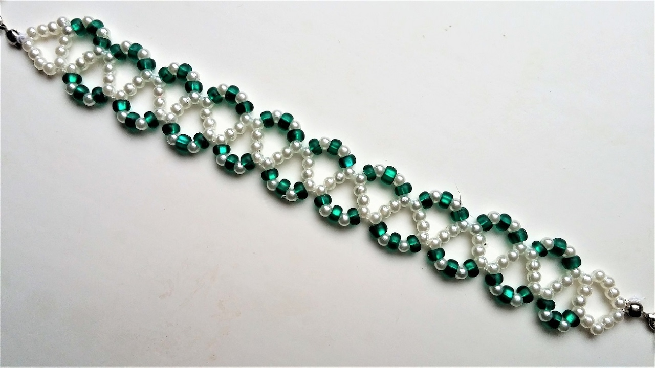 Go Green Bracelet 3 Beading Jewelry Pattern For Beginners