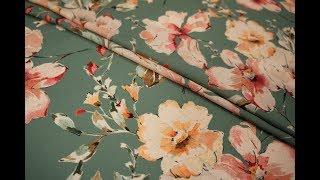 видео Плательно-блузочный иск.шелк цветы LEO 28061802-7